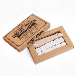 Stone drink cubes 12 pcs. white, elegant cardboard packaging