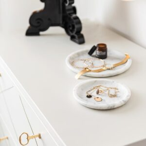 Bianco Carrara marble bowl 25cm