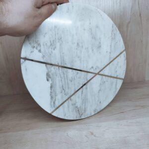 Calacatta marble serving tray 27cm