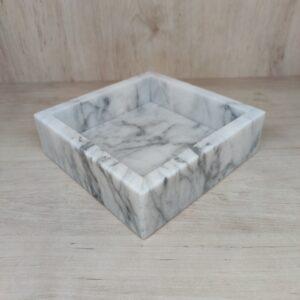 Bandeja de mármol Bianco Carrara 17x17cm