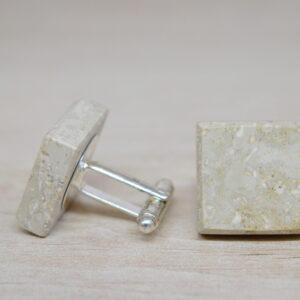 Spinki do mankietów z marmuru Limestone