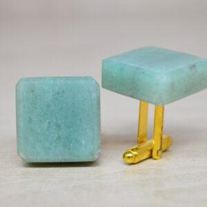 Spinki do mankietów z kamienia Jadeit