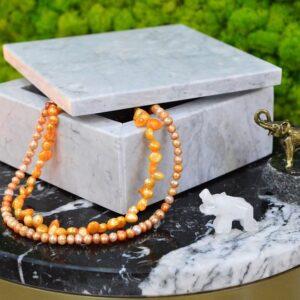 Taca marmurowa szkatułka marmur Carrara 15x15cm