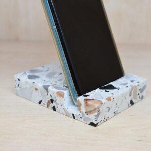 Soporte para teléfono, tableta Terrazzo 10cm x 8cm