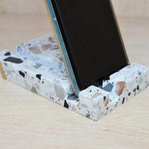 Podstawka na telefon, tablet Terrazzo 13cm x 8cm