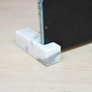 Stand, phone stand in Carrara Bianco marble