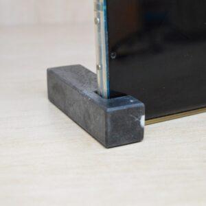 Soporte, soporte para teléfono en mármol Nero Marquina