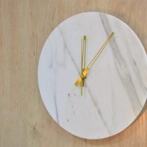 Calacatta marble wall clock