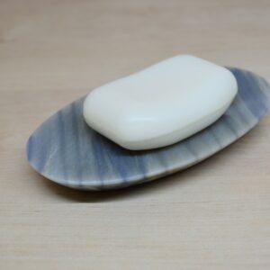 Mydelniczka kamienna z kwarcu naturalnego Azul Macaubas