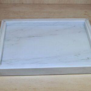 Bandeja de mármol Bianco Carrara 35x25cm