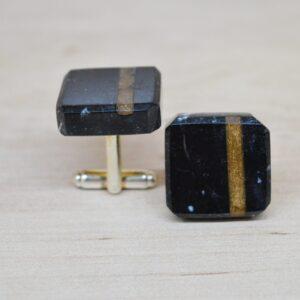 Gemelos de mármol Nero Marquina