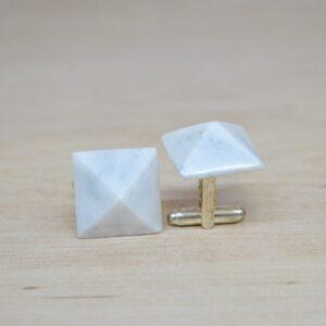 Gemelos de mármol Bianco Carrara