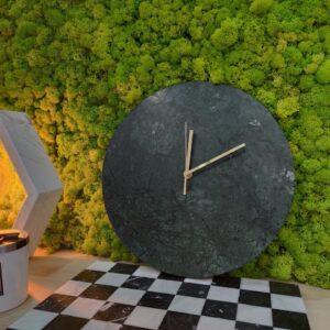 Reloj de pared de mármol Verde Guatemala