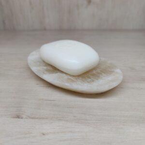 Jabonera de mármol ónix amarillo