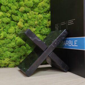 Podpórka do książek marmur Nero Marquina 10x18cm
