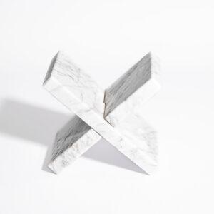 Podpórka do książek marmur Bianco Carrara 10x18cm