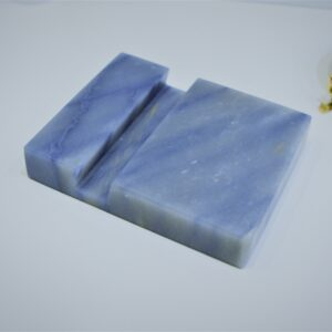 Soporte para móvil de cuarcita natural Azul Macaubas