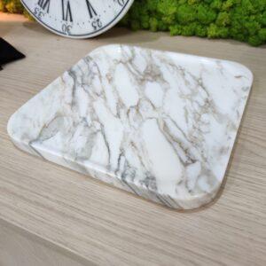Bandeja de mármol Calacatta 25cm