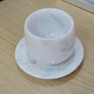 Filiżanka do kawy z marmuru Bianco Carrara