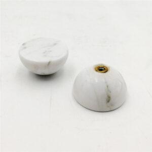 Uchwyt meblowy z marmuru Bianco Carrara