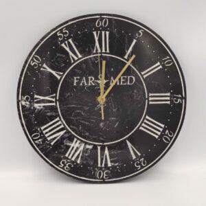 Zegar ścienny z marmuru Nero Marquina 30 cm dowolny grawer