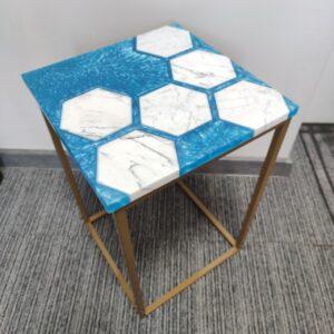 Stolik heksagon Sea Carrara model 2