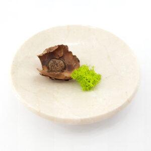 Cuenco de mármol crema 15cm