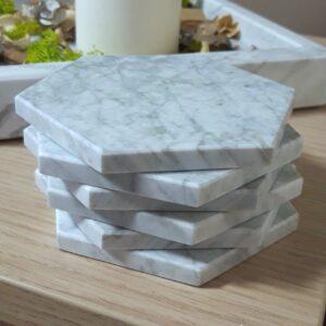 Soporte de mármol Bianco Carrara 11 x 12,5 cm