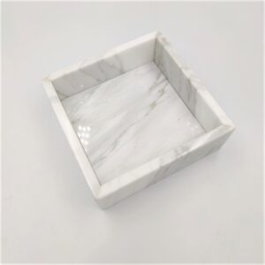 Taca z marmuru Bianco Carrara 15x15cm