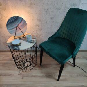 Stolik z blatem marmurowym Rose Portogalo 40cm