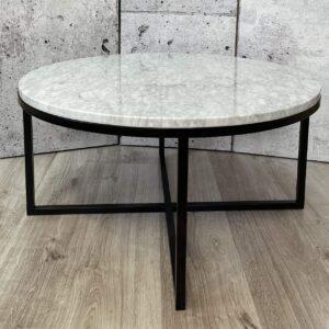 Stolik kawowy z blatem marmurowym Bianco Carrara 80