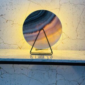 Lampa z Onyksu marmurowego w stylu LOFT