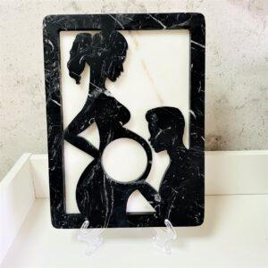 Ramka obraz pamiątka narodzin dziecka z marmuru 30cm x 22cm