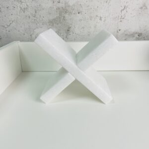 Podpórka do książek marmur Crystal White
