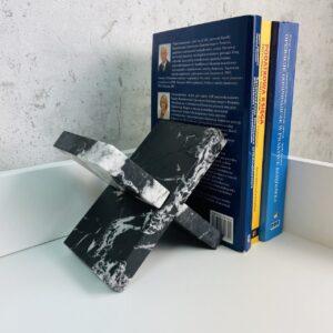 Podpórka do książek marmur Nero Marquina