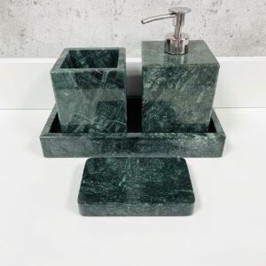 Komplet akcesoriów łazienkowych z marmuru Werde Gwatemala