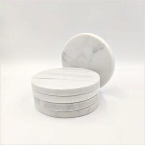 Podstawka z marmuru Bianco Carrara 10cm kpl. 4szt.