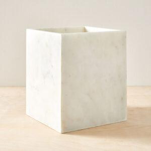 Donica z marmuru Bianco Carrara 30cm x 25cm