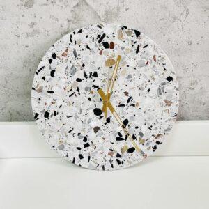 Zegar ścienny z kamienia Terrazzo 30cm