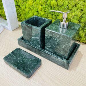 Dozownik do mydła w płynie z marmuru Werde Gwatemala