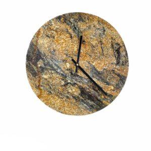 Zegar ścienny z granitu Magma Gold 40cm