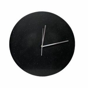Zegar ścienny z konglomeratu kwarcowego 40cm czarny