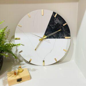 Zegar ścienny z konglomeratu kwarcowego i granitu 40cm