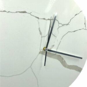 Zegar ścienny z konglomeratu kwarcowego 40cm biały