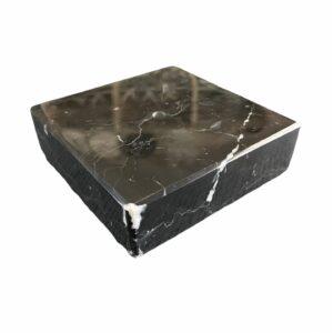 Podstawka z marmuru Nero Marquina 10 x 10 x 3cm