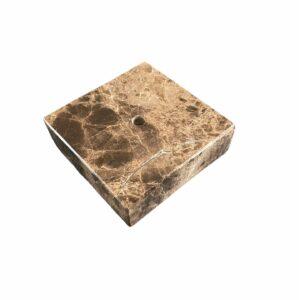Podstawka z marmuru Emperador Dark 10 x 10 x 3cm
