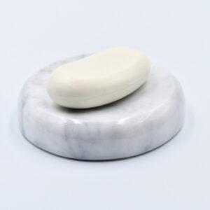 Mydelniczka z marmuru Bianco Carrara 12,5cm