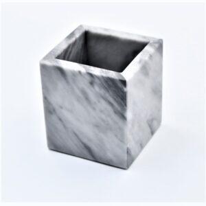 Pojemnik kubek z marmuru Bardiglio
