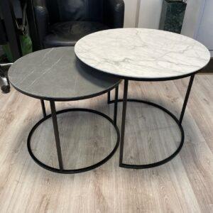 Komplet stolików ze spieku kwarcowego