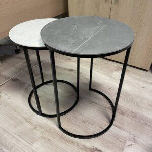 Komplet stolików ze spieku kwarcowego model 2